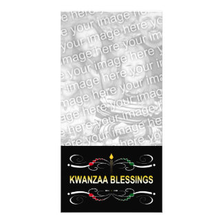 sophisticated kwanzaa blessings customised photo card