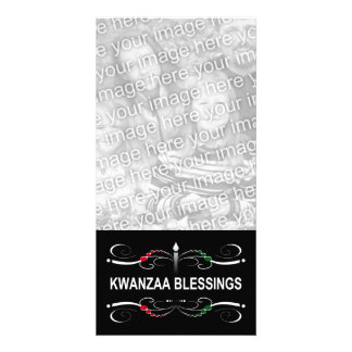 sophisticated kwanzaa blessings photo greeting card