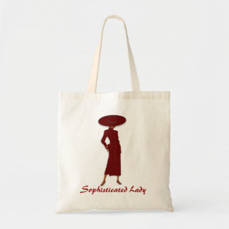 Sophisticated Lady (red) Budget Tote Bag