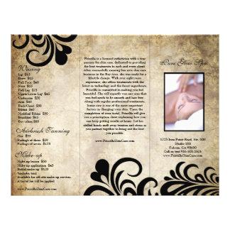Sophisticated Modern Designer Salon Brochure Personalized Flyer
