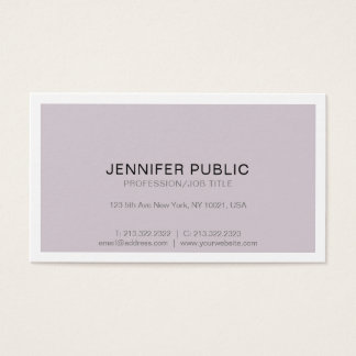 Sophisticated Modern Professional Design Simple Business Card