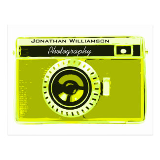 Sophisticated Olive Camera Photography Business Postcard