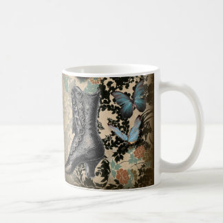 Sophisticated Paris lace shoe butterfly Coffee Mug