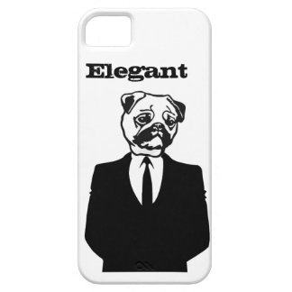 Sophisticated Pug iPhone 5 Case