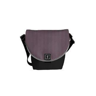 Sophisticated purple stripe messenger bags