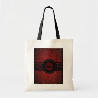 Sophisticated red black lace vintage monogram bags