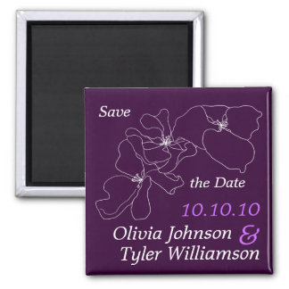 Sophisticated Save the Date Refrigerator Magnet