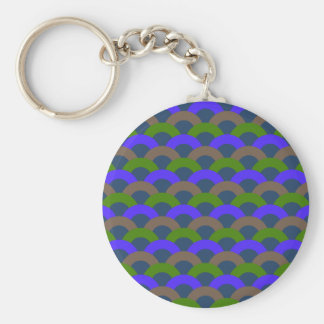 Sophisticated Seamless Pattern Basic Round Button Key Ring