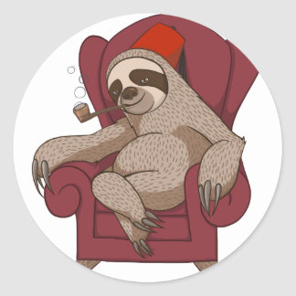 Sophisticated Three Toed Sloth Stickers