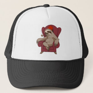 Sophisticated Three Toed Sloth Trucker Hat