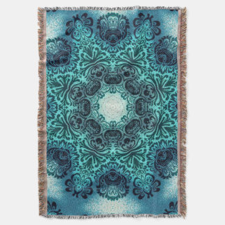 sophisticated vintage bohemian pattern teal lace