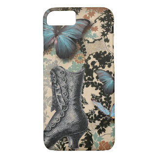 Sophisticated Vintage Paris lace shoe butterfly iPhone 8/7 Case