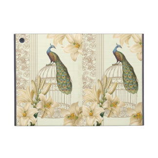 Sophisticated vintage Peacock Lily floral Covers For iPad Mini