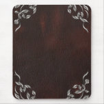 Sophisticated Western Leather Wedding Mouse Pad