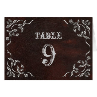 Sophisticated Western Wedding Table Numbers Card