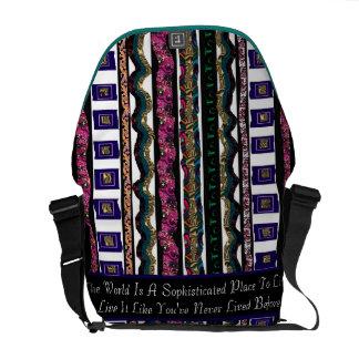 """""""Sophisticated World"""" messenger bag"""".*"""