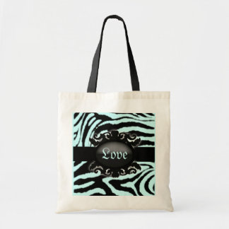Sophisticated  Zebra Print monogram Canvas Bag