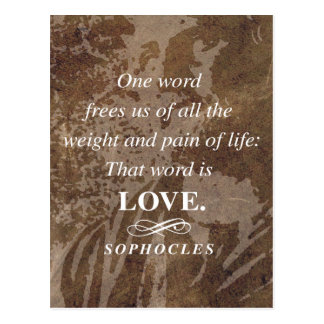 Sophocles Quote on Love Postcard