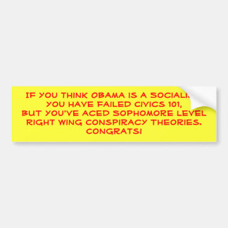 Sophomore Level Conspiracy Theories Bumper Sticker