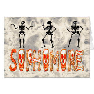 Sophomore - Skeletons Greeting Card