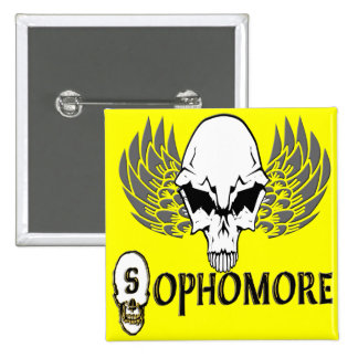 Sophomore - Skull Wings Buttons