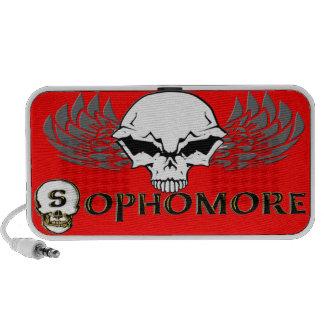 Sophomore - Skull Wings Doodle iPhone Speakers