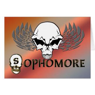 Sophomore - Skull Wings Greeting Card