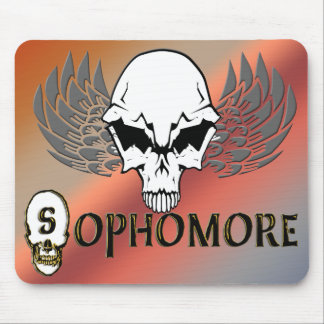 Sophomore - Skull Wings Mouse Pad