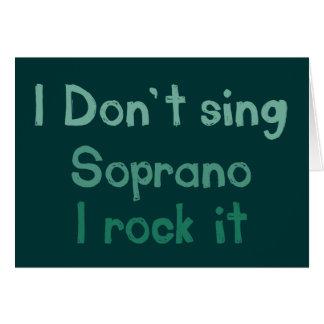 Soprano Rock It Greeting Card