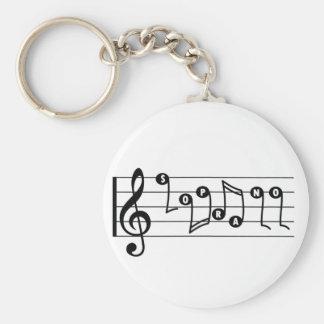 Soprano Singer Musical Keychain
