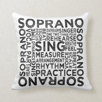 Soprano Typography Cushion