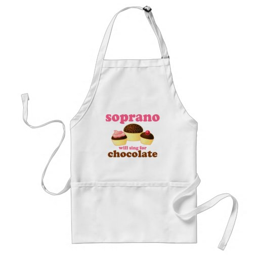 Soprano will Sing for Chocolate Aprons