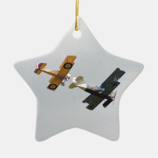 Sopwith Camel and Fokker D.VII Models Ceramic Ornament