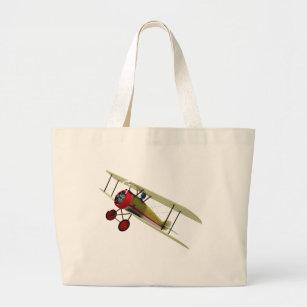 Sopwith Camel and Pilot Large Tote Bag