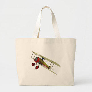 Sopwith Camel and Pilot Jumbo Tote Bag