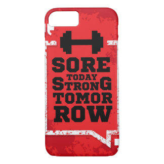 Sore Today Strong Tomorrow Fitness Quote iPhone 8/7 Case