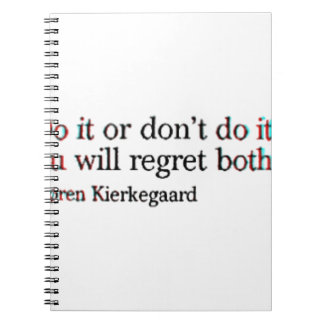 Soren Kierkegaard Famous Quote Spiral Notebook