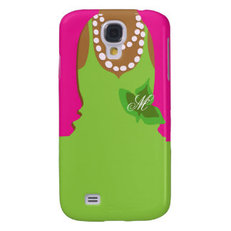 Sorority Life Pink Green Monogram Galaxy S4 Cases