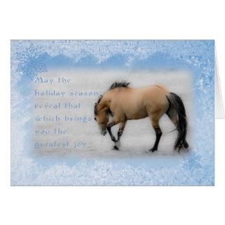 Sorraia Mustang Don Juan - 5x7 Holiday Card