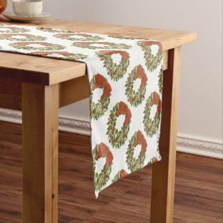 Sorrel Poinsettia Wreath - Table Runner (multiple)