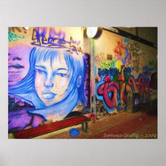 Sorrento Graffiti Poster