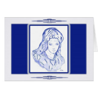 Sorrow: Sketch in Blue card