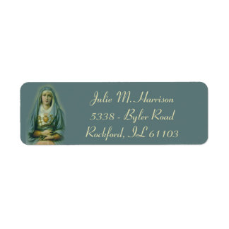 Sorrowful & Immaculate Mother Mary Return Address Label