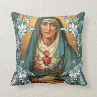 Sorrowful & Immaculate VIrgin Mary Cushion