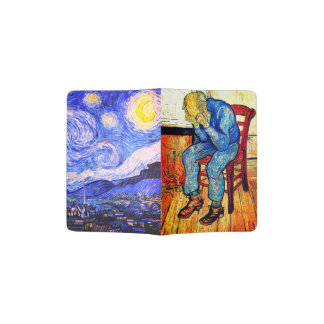 Sorrowing Old Man And Starry Night Passport Holder
