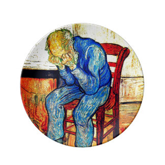 Sorrowing Old Man By Van Gogh Porcelain Plate