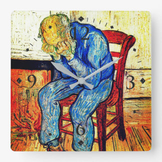 Sorrowing Old Man By Van Gogh Square Wall Clock