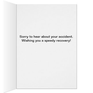 Sorry about your accident--cracked egg. card