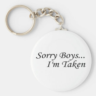 Sorry Boys Im Taken Basic Round Button Key Ring