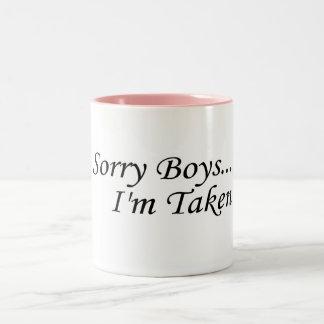 Sorry Boys, I'm Taken Two-Tone Coffee Mug